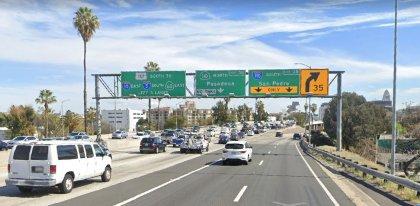 [02-02-2021] Los Ángeles, CA - Accidente De Motocicleta En La Carretera 101 En Dirección Norte Hiere A Un Oficial